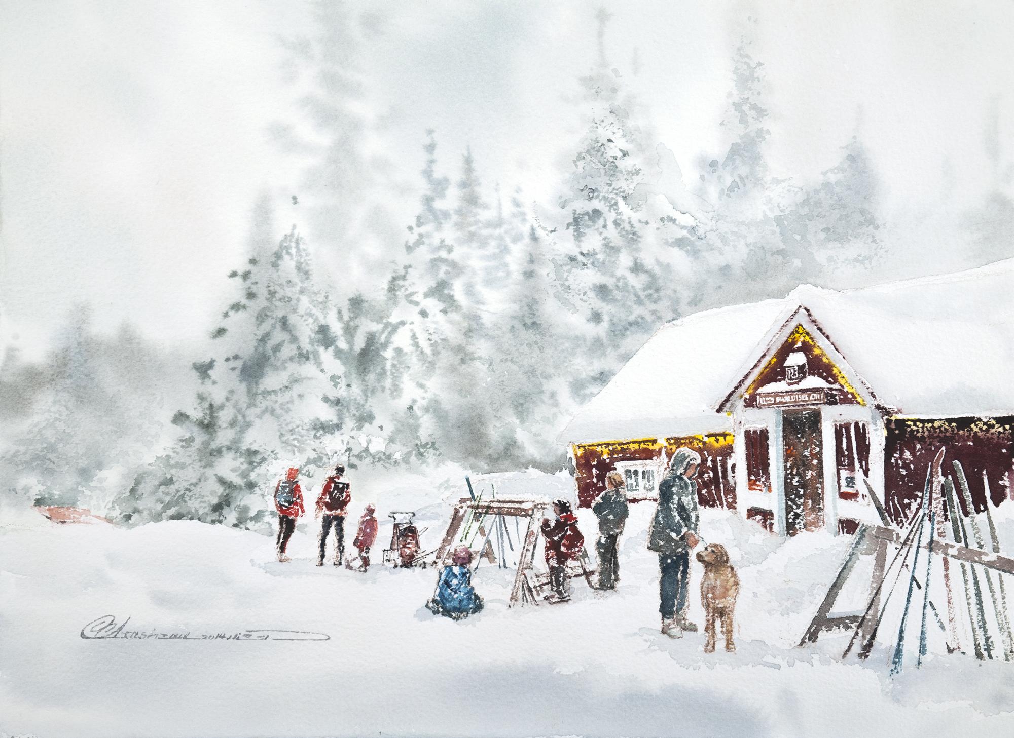 January 2017 - Hollyburn Lodge on Cypress Mountain by Mohammad Reza Atashzay