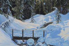 February - Dog Mountain Powder by Caroline Chao