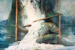 June -Silver Falls by Lyza Del Mar Gustin