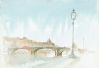 Florence-Ponte Santa Trinita by Mohammad Reza Atashazad