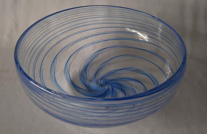 Blue Cane Bowl by Guy Hollington