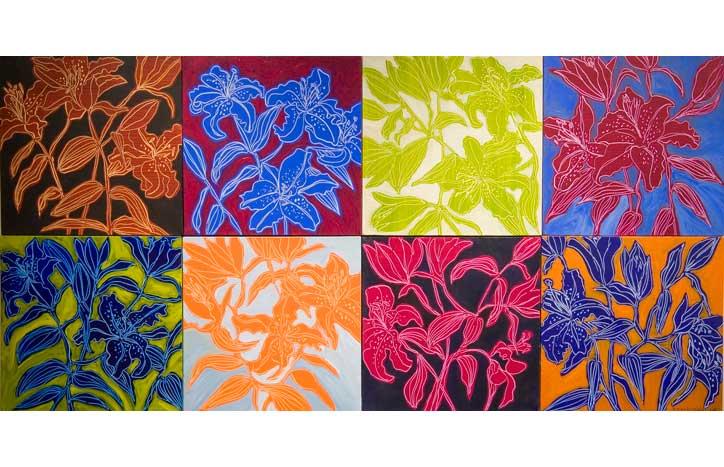 Lilies Detail by Doris MacDougall