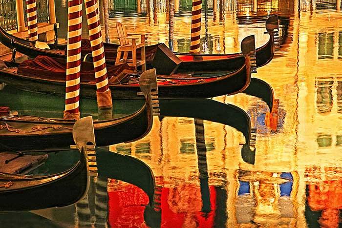Venetian Gondolas Las Vegas by George Janousek