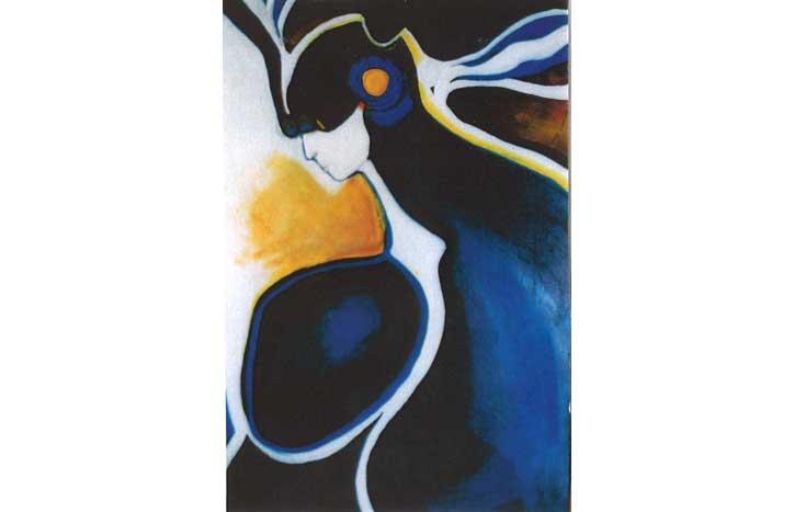 Figure in Black & Blue by June Boe