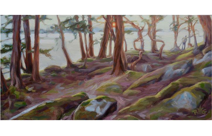 Walk to Eagle Point, Parker Island, BC by Rhonda LeGrove Garton
