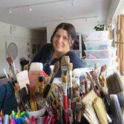Sandrine Pelissier in her studio