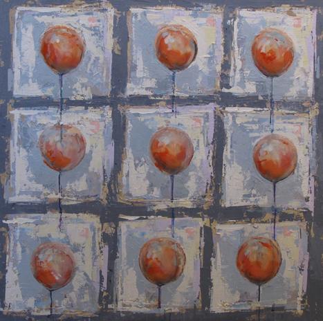 9 Red Ballons X by Deborah Bakos