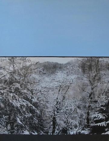 Winter Pond Blue by Jocelyn Fisk-Schleger