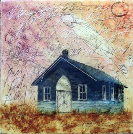 Blue Church by Sonya Iwasiuk