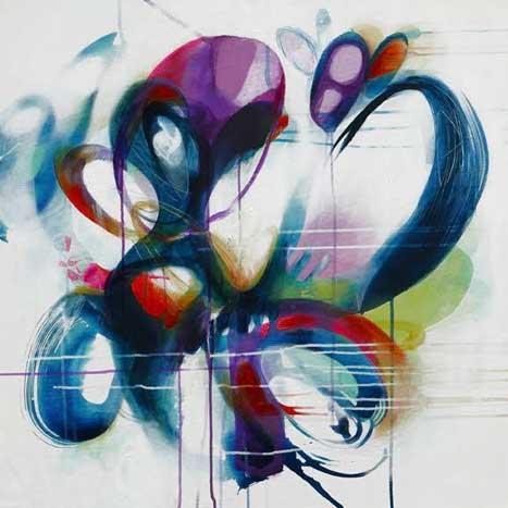 sea spray by Melanie Ellery, acrylic on canvas