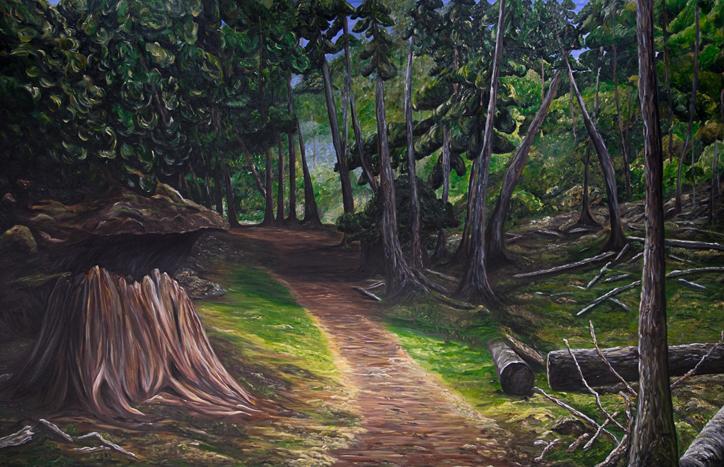 Forest Walk, Jedediah Island by Rhonda Honing