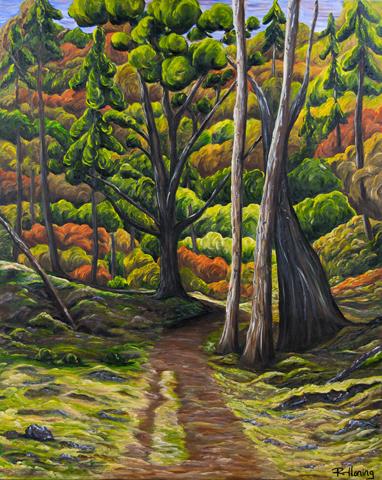 Sunny Meadow, Jedediah Island by Rhonda Honing
