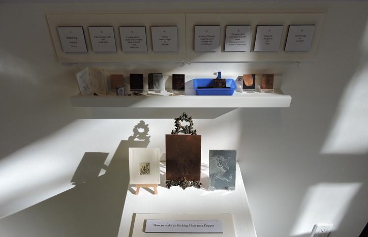 Intaglio display by Mariko Andro