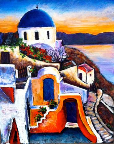 Santorini by Antoinette (Toni) Ludski