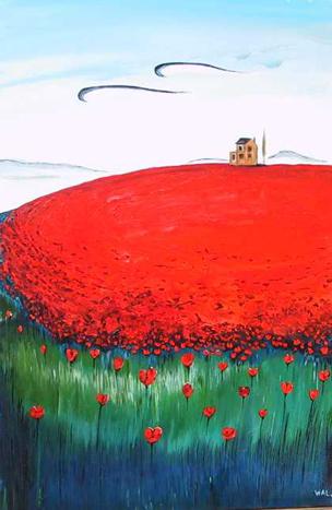 Poppy Field by Demetre Lazos