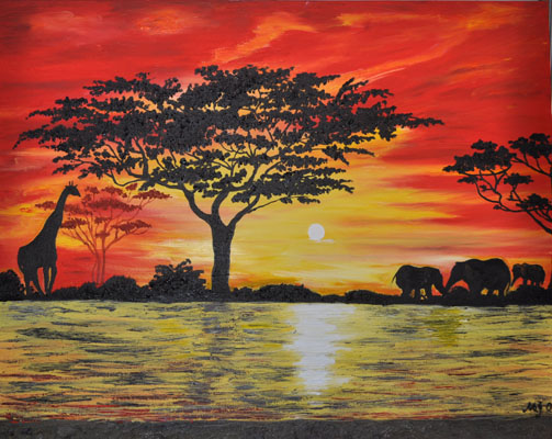 Africa Sunset, by Naz Owlia-Zadeh