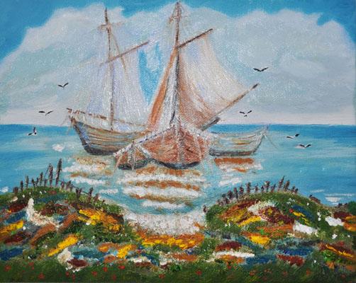 3 Boats, by Naz Owlia-Zadeh