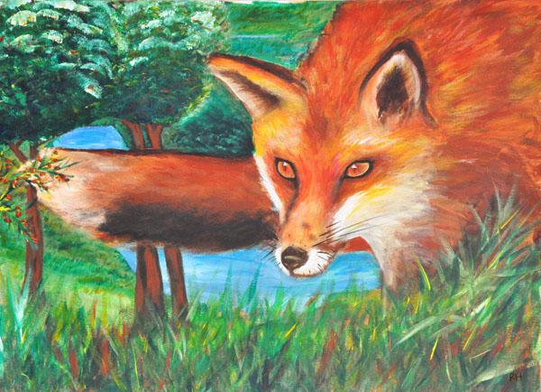 The Hungry Fox by Rhonda Hall