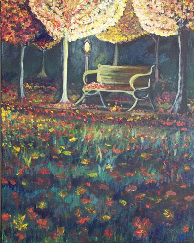 Fall Garden by Rhonda Hall