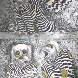 3 Owls by Jack Shadbolt