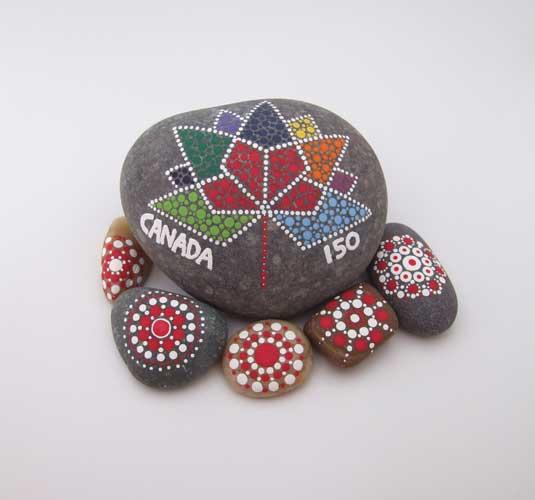 Mandala Stones by Kim Mackay