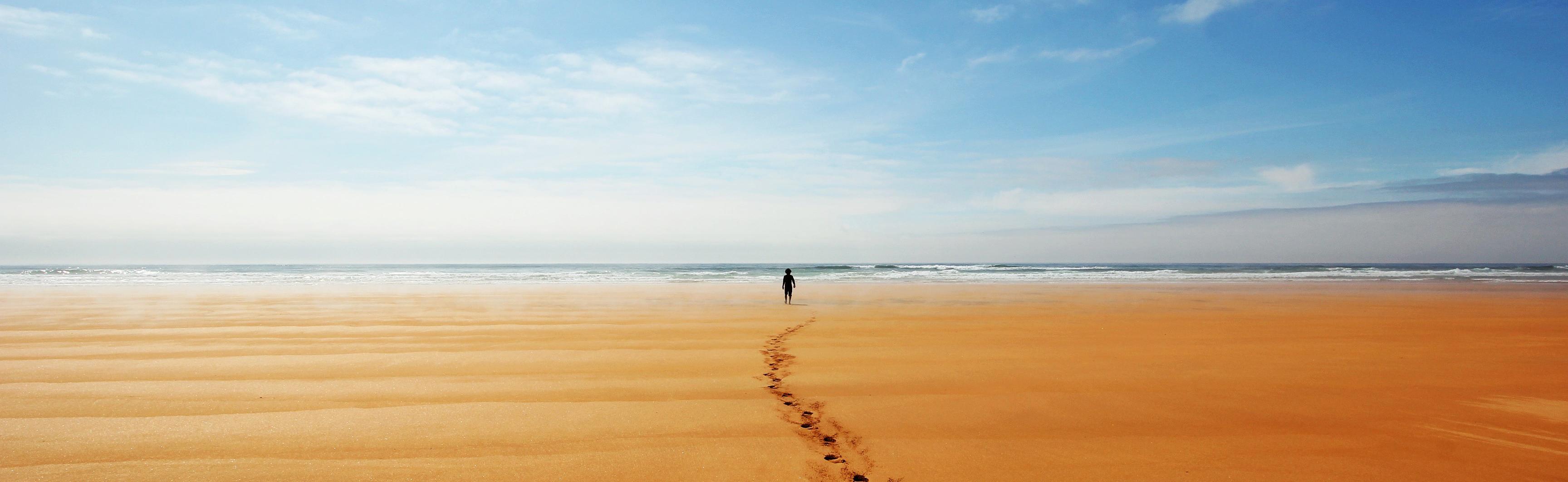 Walking on Icelandic Beach by Steve Tornes