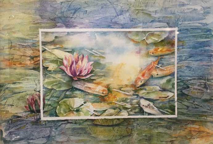 Fish Pond by Maryam Akhavan
