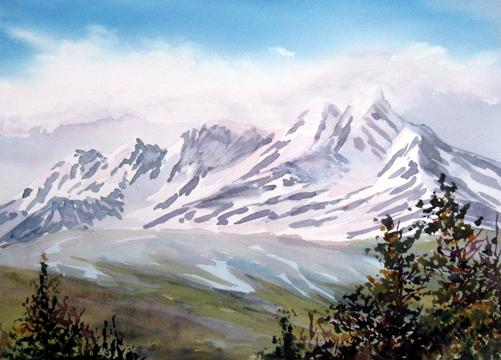 Head in the Clouds Kluane Yukon by Enda Bardell