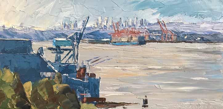 Vancouver Wharves by Wanda Doyle