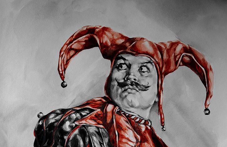 Jester Portrait by Suzanna Orlova