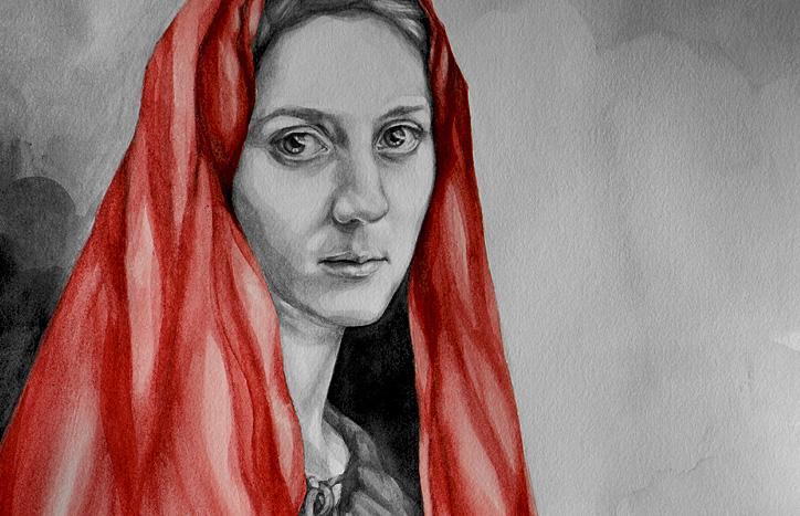 Mary With a Dove by Suzanna Orlova