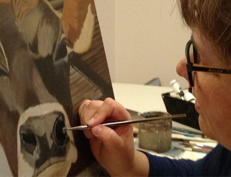 Sharka Leigh painting
