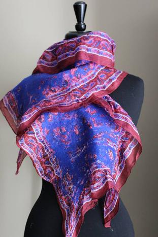 Silk Scarf by Seema Zaidi, $65
