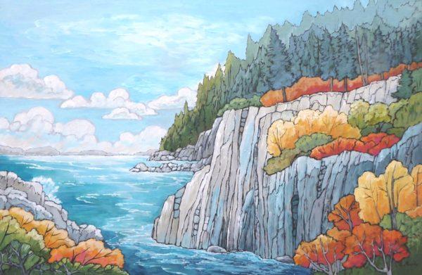Cliffside View by Gwen Murphy