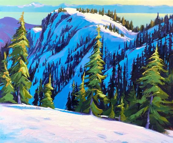 Winter Trail by Tatjana Mirkov-Popovicki