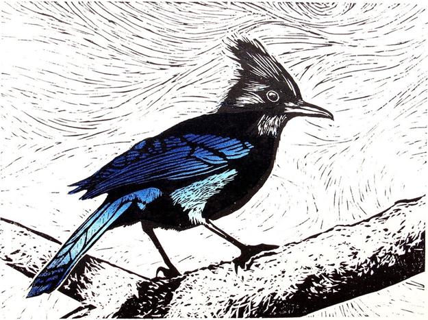 woodcut print by Rick Herdman