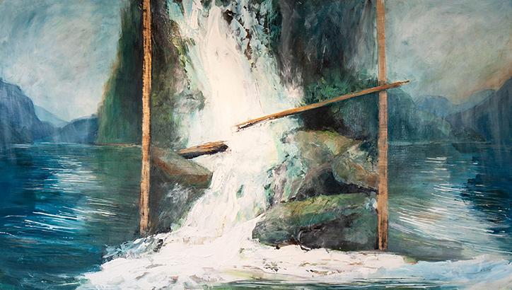 Silver Falls by Lyza Del Mar Gustin