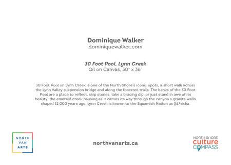 YAH2022 30 Foot Pool, Lynn Creek, by Dominique Walker, art card back
