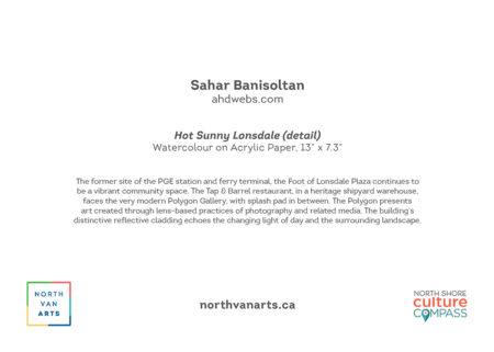 YAH2022 Hot Sunny Lonsdale by Sahar Banisoltan, card back