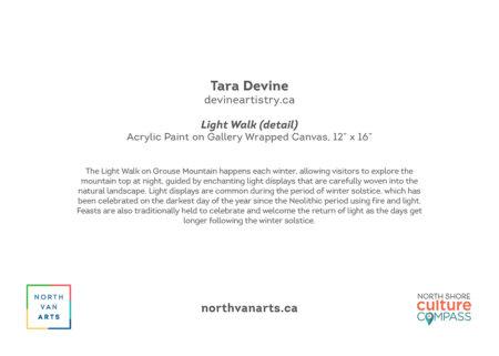 YAH2022 Light Walk by Tara Devine, card back